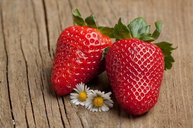 Tow strawberries