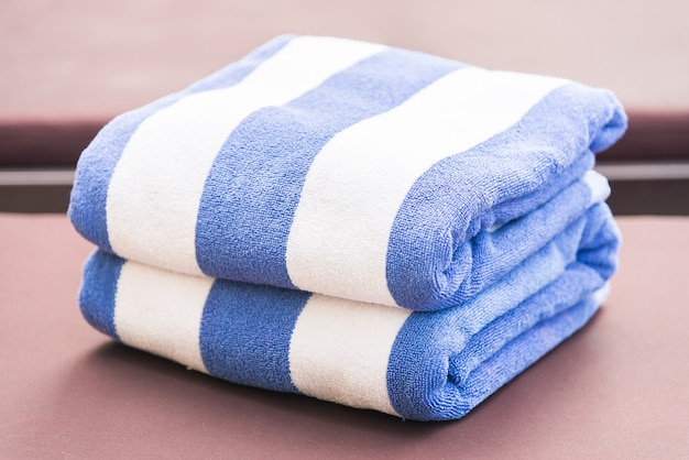 Towel on bed pool
