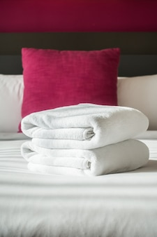Towel on bed