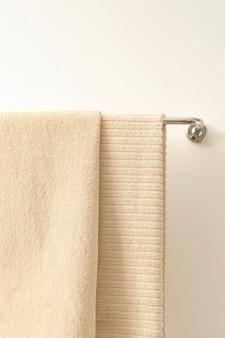 욕실에 걸려 있는 수건, 가정용 직물