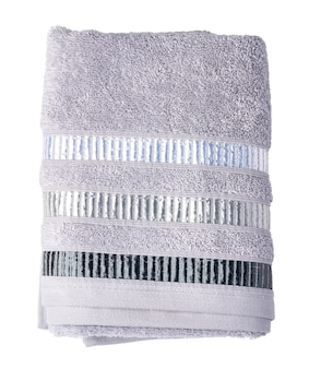 Towel isolated on white background close up