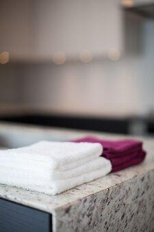 Towels on bathroom