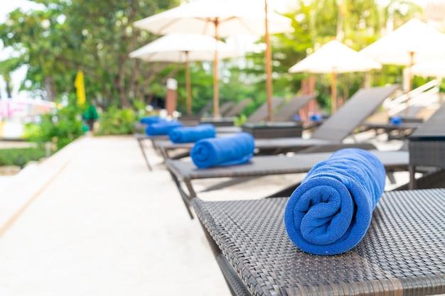 Towels on hammocks in hotel