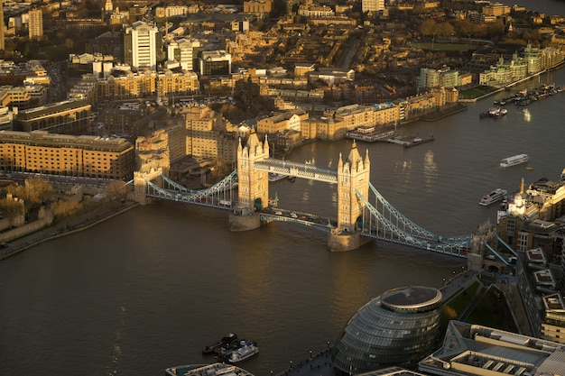 Tower bridge, london, top view