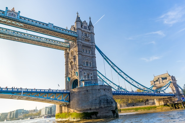 Tower bridge with group tourist visiting.