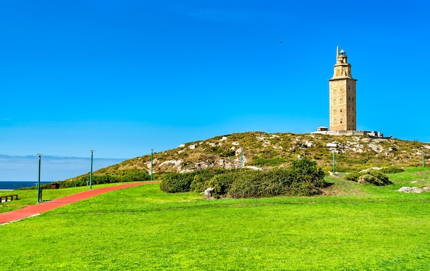 The tower of hercules in a coruna