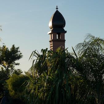 Tower of la sultana hotel, medina, marrakesh, morocco