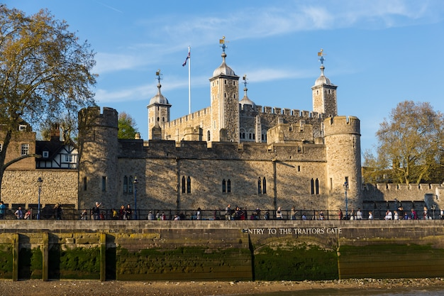 Tower of london with group tourist visiting.