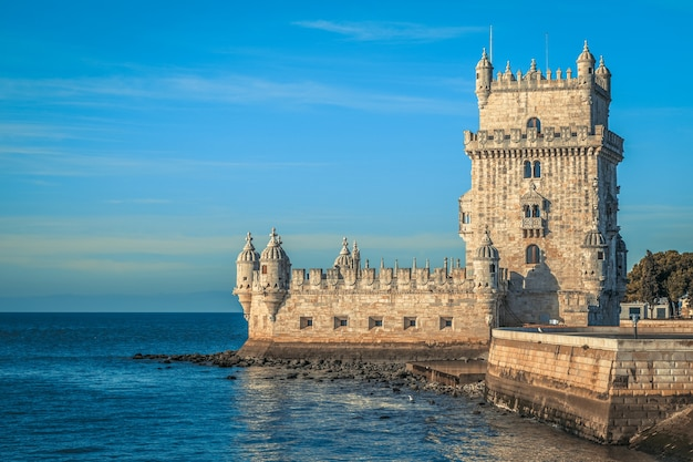 Башня белен (torre de belem), лиссабон, португалия.