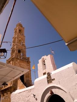 Tower in rhodes greece