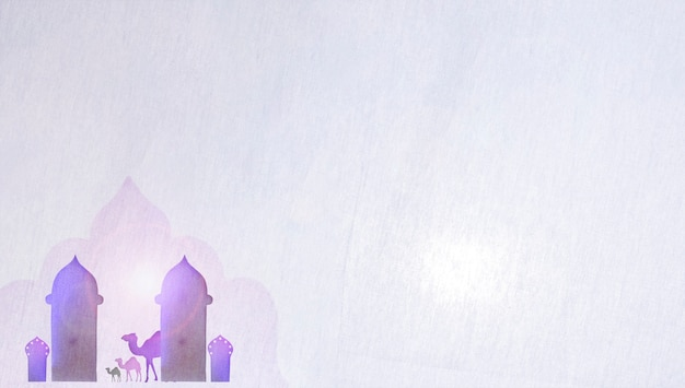 Башни и бумажные верблюды на белом