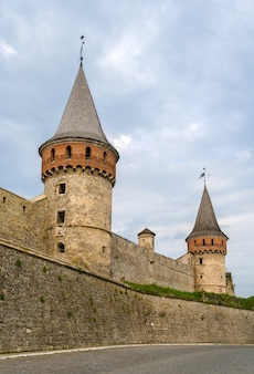 Towers of kamianets-podilskyi castle in ukraine