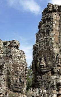 앙코르 와트.캄보디아의 바이욘 사원 타워