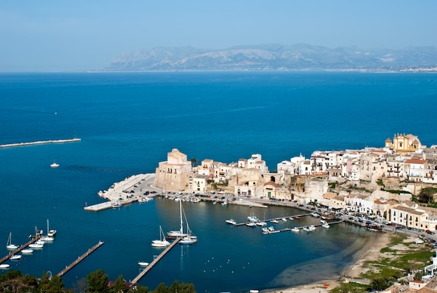 The town of castellammare del golfo