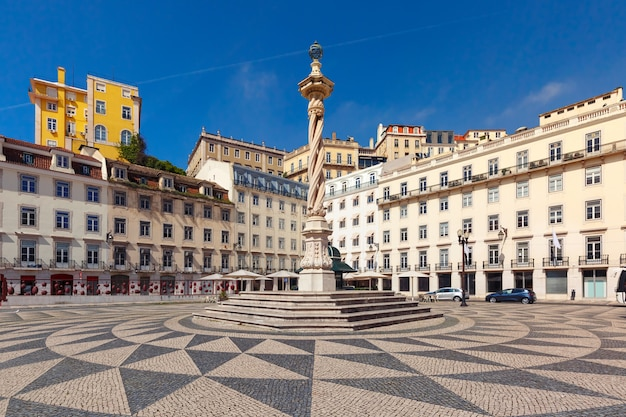 Town hall square in lisbon, portugal