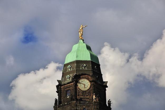 타운 홀 타워, 드레스덴, 작센 독일 시청사