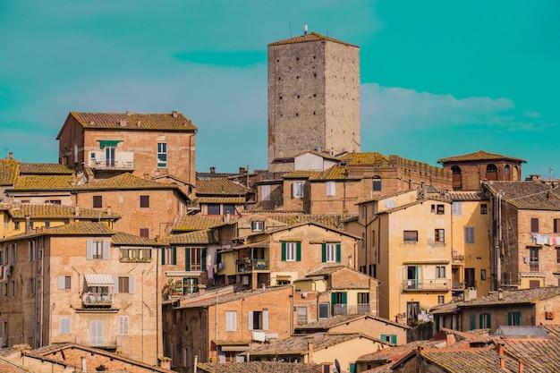 イタリア、シエナの町
