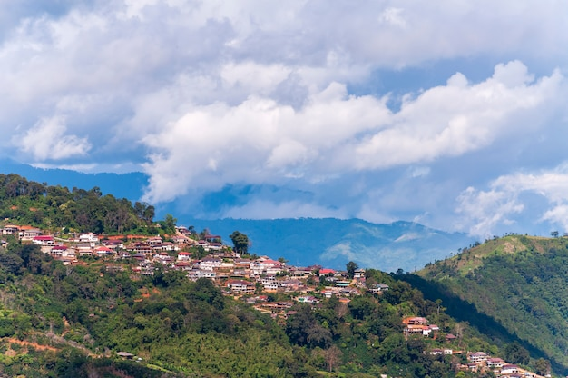 Town on the top of mountain