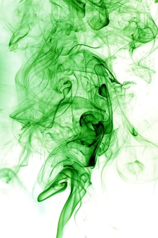 Toxic fumes green on a white background.