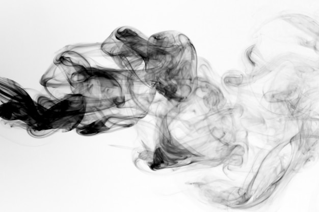 Toxic fumes movement on a white background.