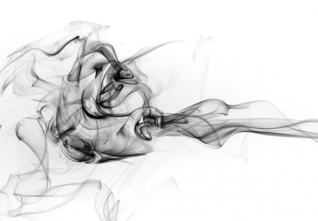 Движение токсичного дыма на белом фоне, дизайн огня