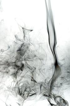 Toxic smoke on white background.