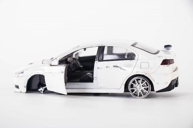 Toy car crash accident