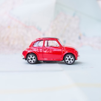 Toy car on map