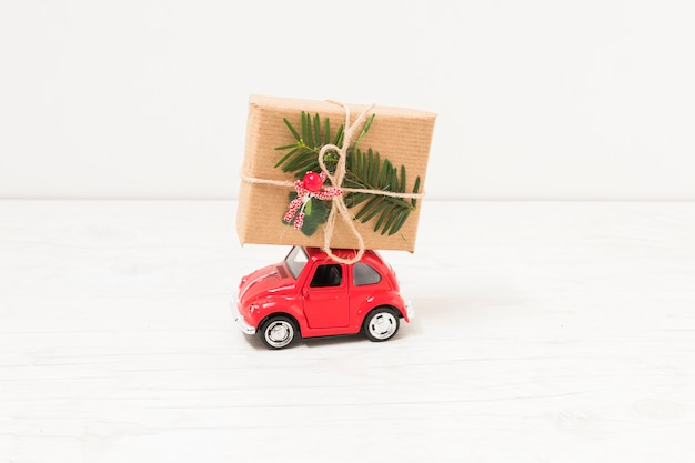 Toy car with gift box