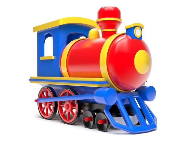 Игрушечный поезд, изолированные на белом фоне 3d визуализации иллюстрации