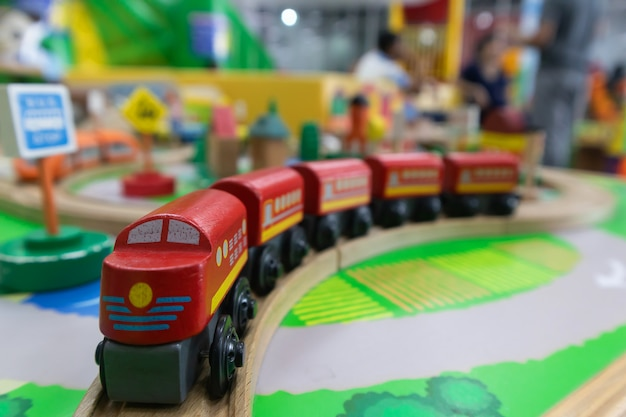 Toy train made of wood for brain development for children