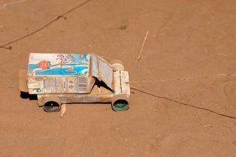 Toy truck in Kenya