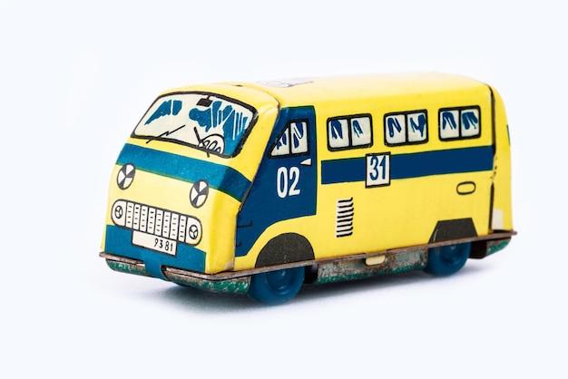 Toy van on white background
