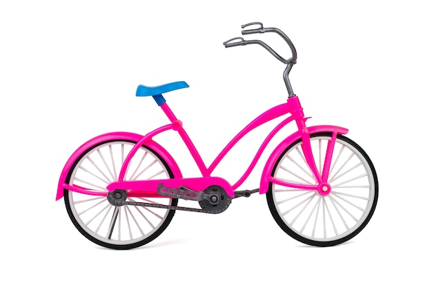 Toy walking bike isolated. eco-friendly mode of transport.