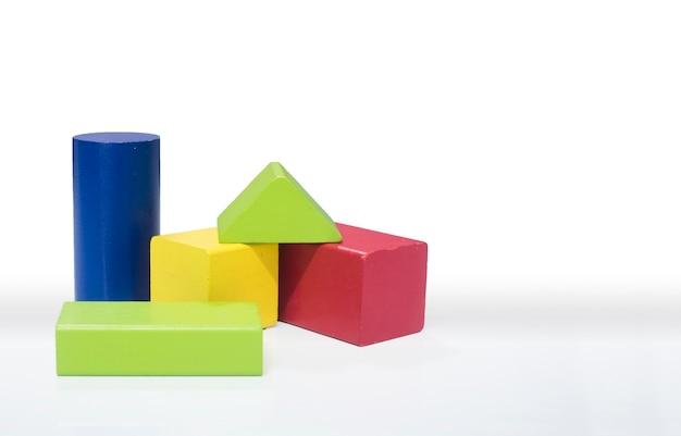 Toy wooden blocks