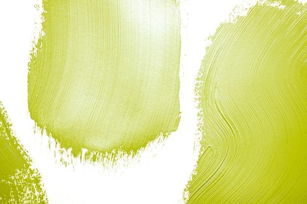 緑色の塗料とブラシの痕跡