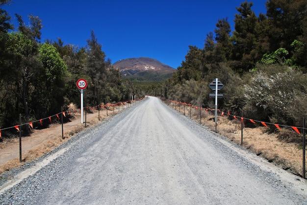 Track in tongariro national park, new zealand