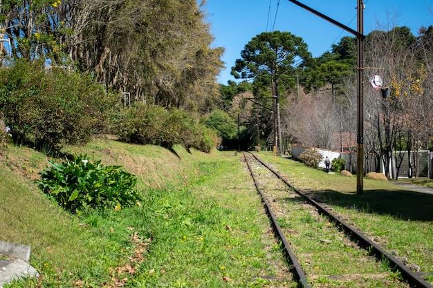 Tracks of the campos do jordao railway