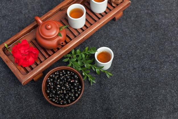 Traditional accessories for tea ceremony