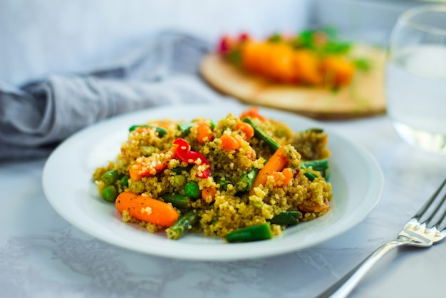 Traditional african dish - couscous with vegetables