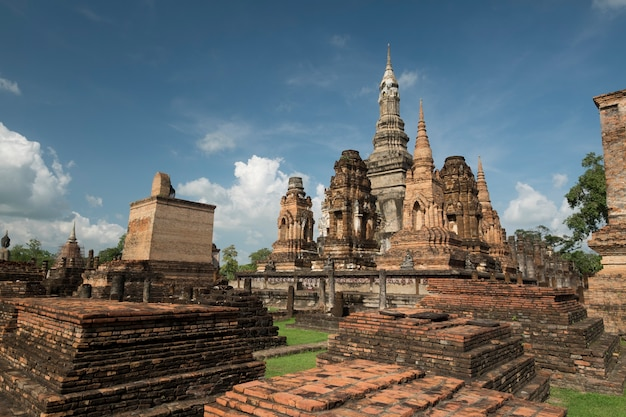 Traditional antique temple sukhothai thailand