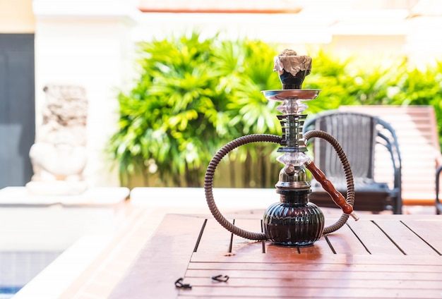 Traditional arabic shisha pipes hookah