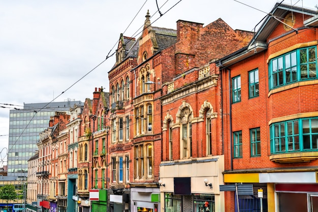 Traditional architecture in nottingham, east midlands, england