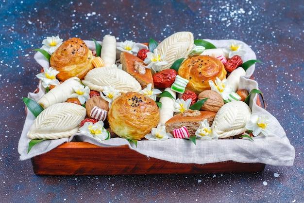 Xoncha의 전통적인 아제르바이잔 휴가 novruz 과자.