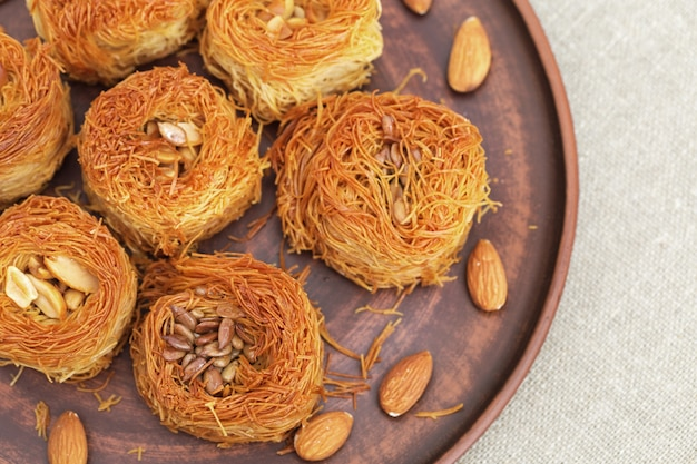 Traditional baklava dessert