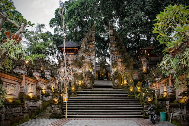 Traditional bali temple. balinese hinduism religion.