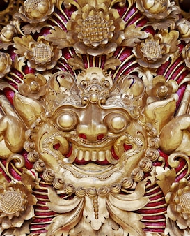 Traditional balinese carving