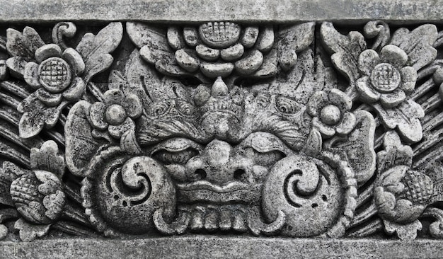 Traditional balinese warrior monster