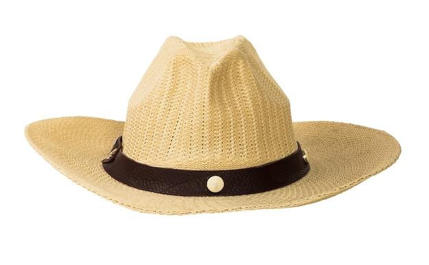 고립 된 전통적인 바구니 세공 모자