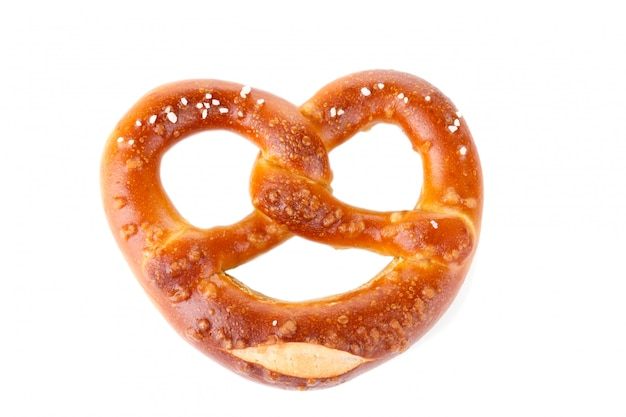 Traditional bavarian salty pretzel